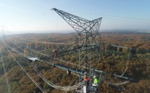 Budowa nowej linii energetycznej na półmetku