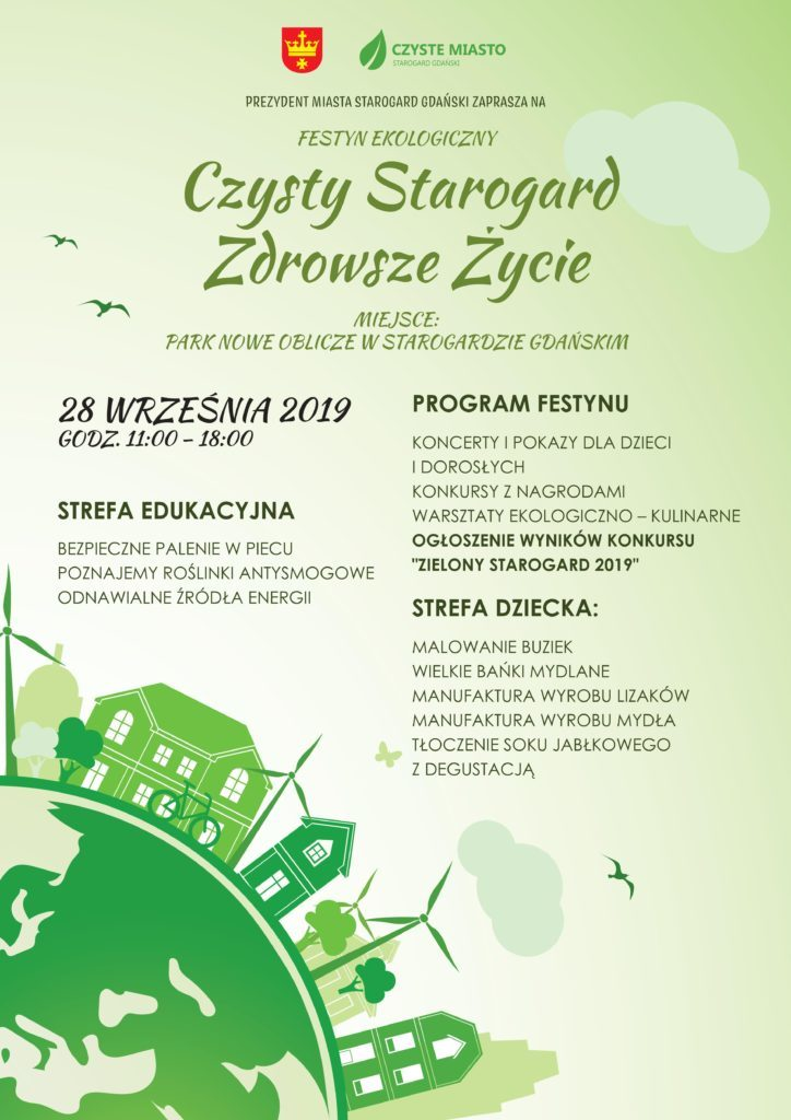 Plakat Czysty Starogard - Zdrowsze Życie