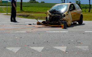 Dwie osoby ranne w wypadku na obwodnicy Smętowa