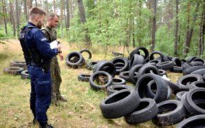 Policjanci i Strażnicy Leśni dbają o czysty las