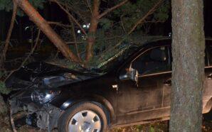 Nietrzeźwy kierowca rozbił opla na drzewie