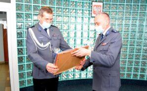 Uroczyste zdanie stanowiska przez pierwszego zastępcę komendanta powiatowego policji w…
