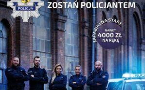 Funkcjonariusze zachęcają do wstąpienia w szeregi Policji