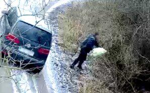 Wyrzucał śmieci i został ukarany – nagranie