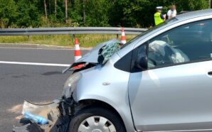 Dwie osoby ranne w wypadku na A1